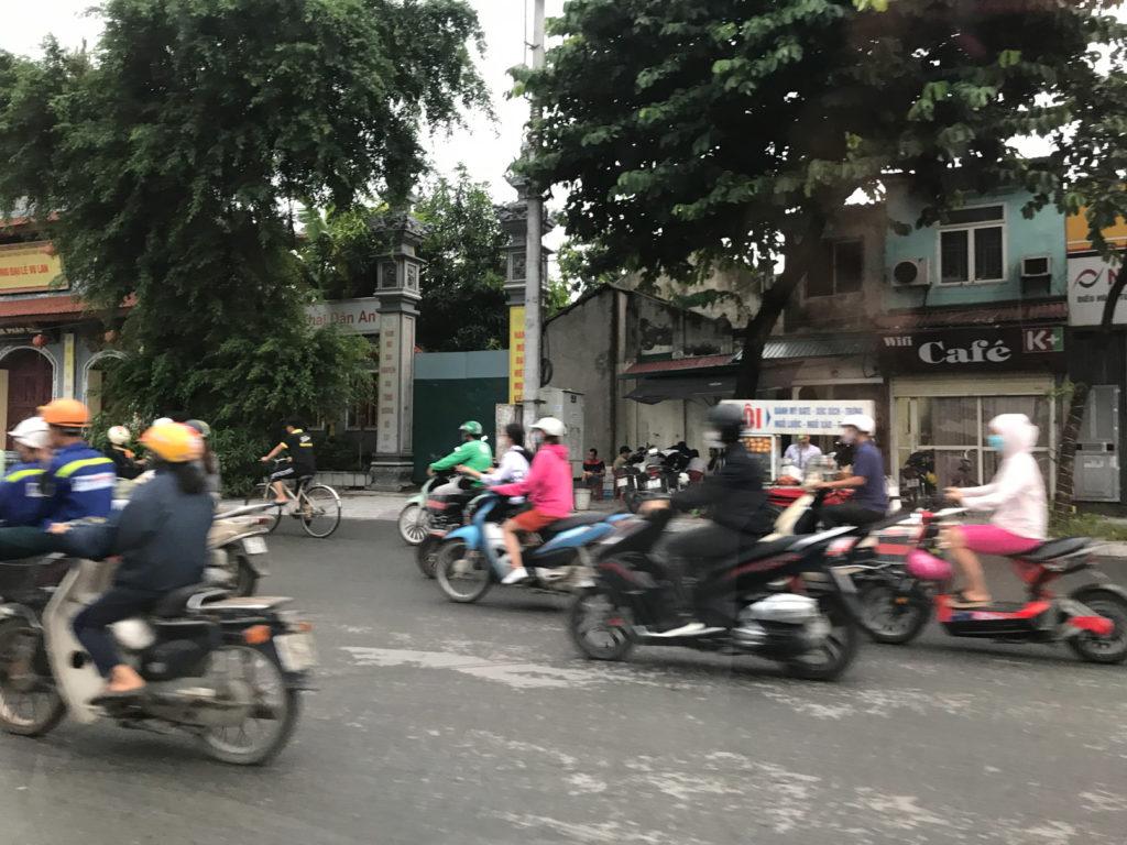 ベトナムハノイの町